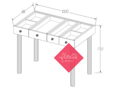 Удобный стол для творчества Floretta artspace на ножках