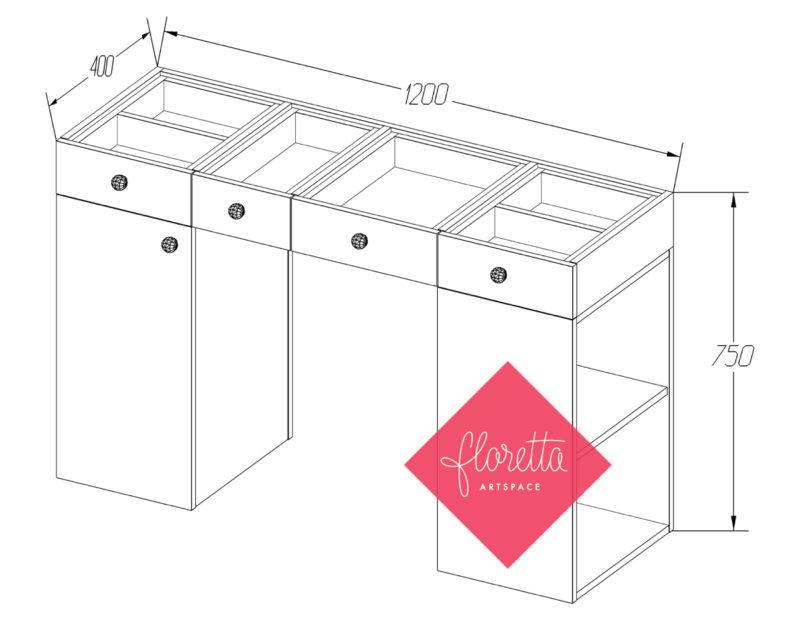 Стол для творчества Floretta artspace, мод. ТС-120*40