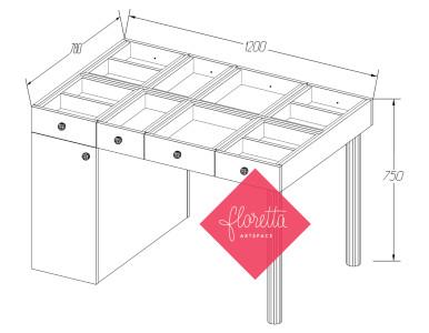 Швейный стол для творчества Floretta artspace