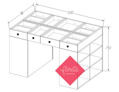 Швейный стол Floretta artspace, 15 моделей