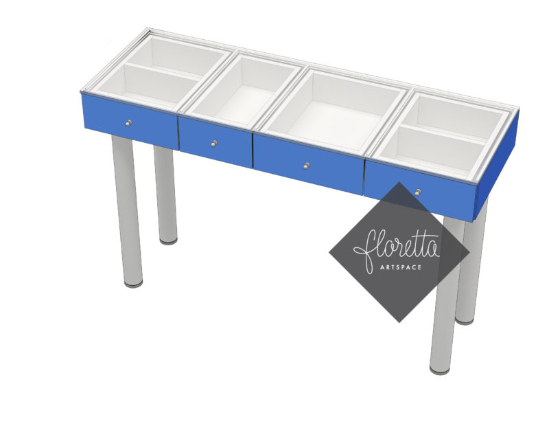 Стол для творчества Floretta artspace, цвет синий