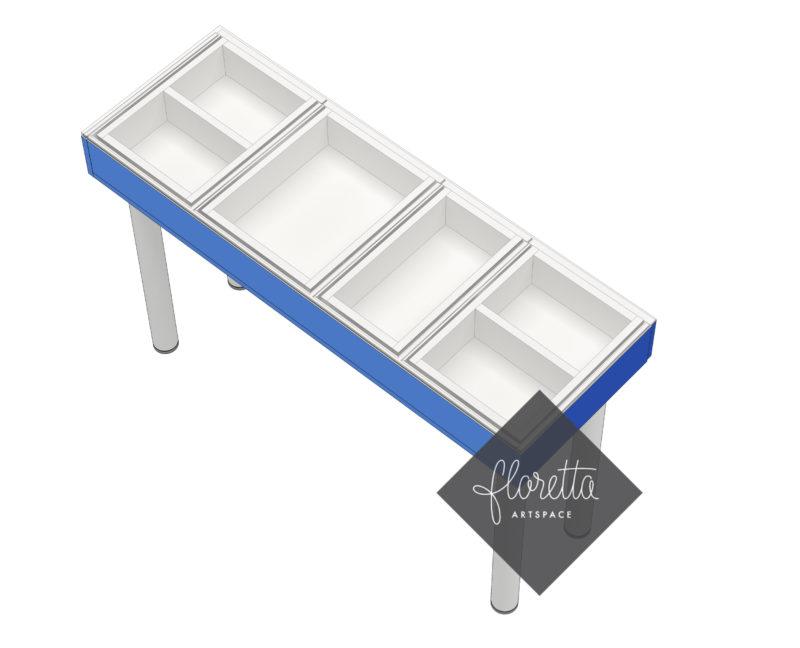 Узкий стол для рукоделия Floretta artspace, цвет синий