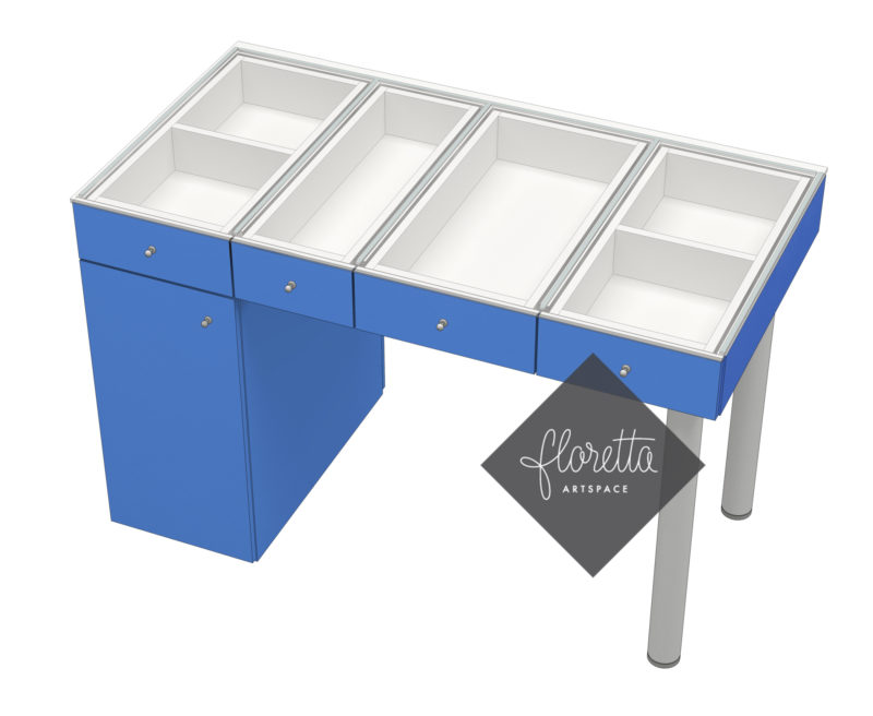 Швейный стол Floretta artspace, цвет синий