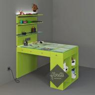 Индивидуальный дизайн-проект рабочего места для рукоделия, 120*78 см, цвет Лайм