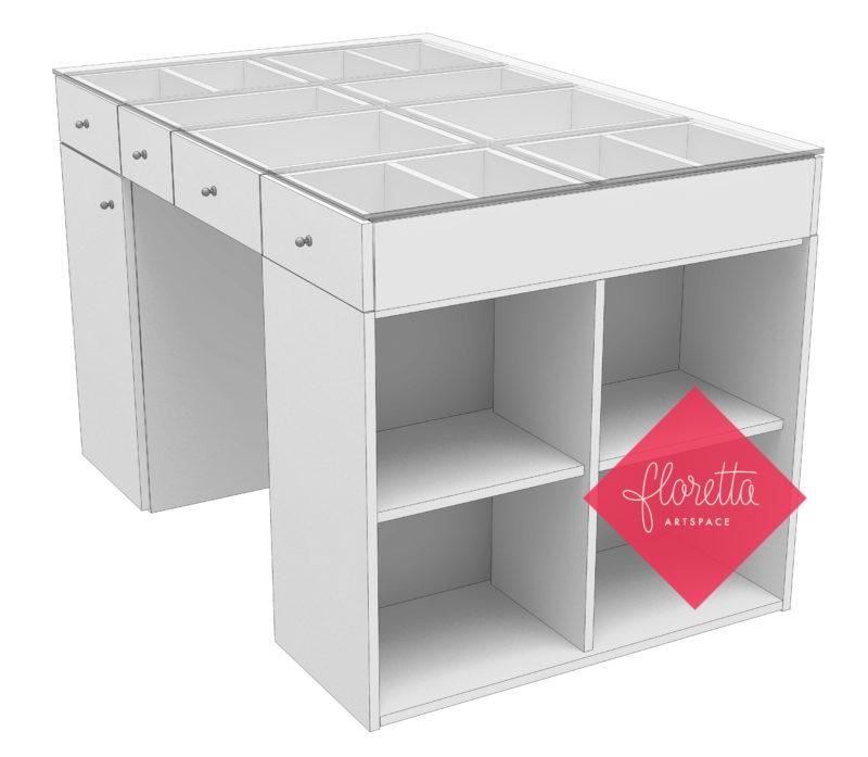 Стол для творчества Floretta artspace, цвет серый