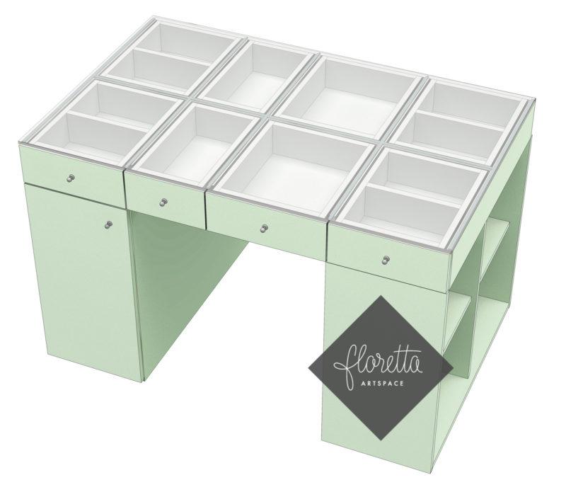 Стол для рукоделия Floretta artspace, цвет мятный, авокадо