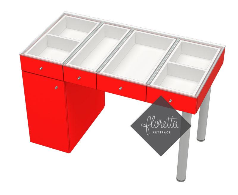 Стол для творчества Floretta artspace, цвет красный