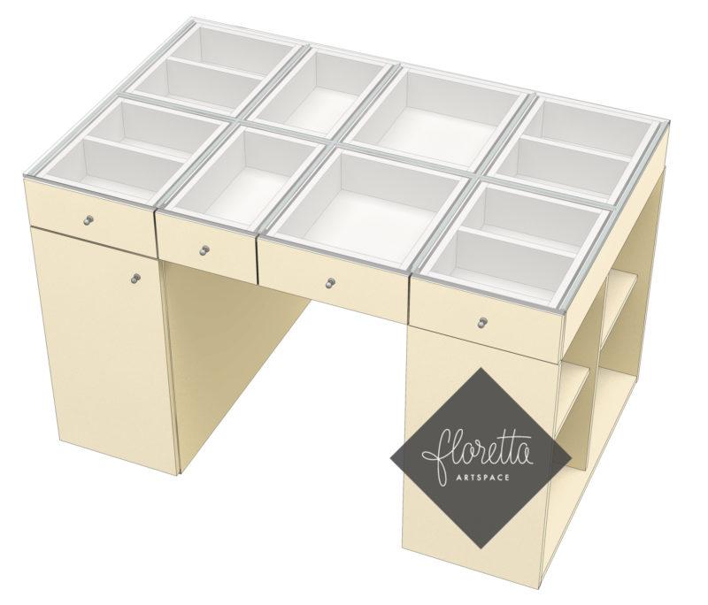 Стол для творчества Floretta artspace, цвет бежевый, ваниль