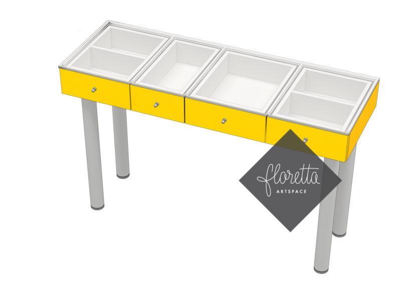 Стол для рукоделия Floretta artspace, цвет желтый